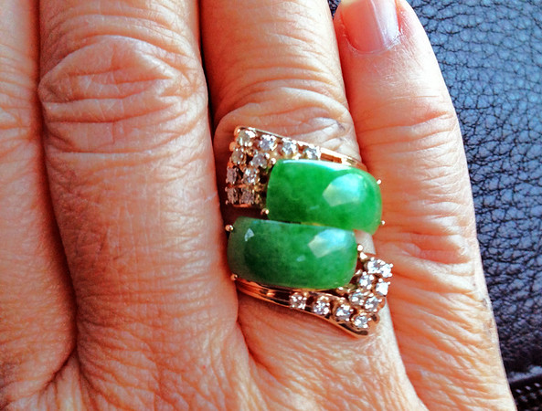 jade ring with diamonds alohamemorabilia.com